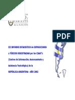 III Informe Estadistico 2002 intoxicaciones en argentina