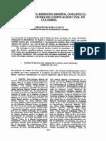 Pervivencia Derecho Español Siglo Xix y Codificacion