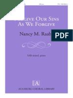 Forgive Our Sins as We Forgive 1