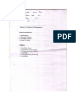 Principles of Management_Sec_A Course EM 502