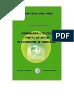 Sinteza an I a Aplicata in Sociologie Si Psihologie