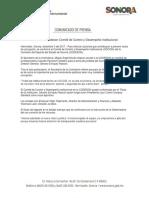 03/12/17 Instalan en Codeson Comité de Control y Desempeño Institucional. – C. 121710