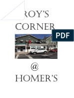 Roy's Corner Menu