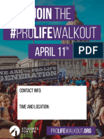 #ProLifeWalkout Flyer 1
