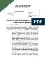 Peticion Correcion de Nombre- Jose Santos
