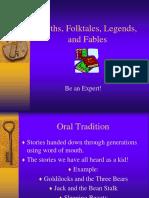 Myths, Folktales, Tall Tales, Legends