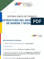 Estructura Reglamento