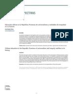 Educación chilena en la República (Nuñez, 2015)
