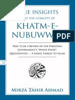 True Concept of Khatm e Nubuwwat
