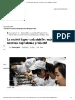 La Société Hyper-Industrielle _ Enjeux Du Nouveau Capitalisme Productif