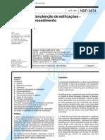 NBR 5674 - Manuteno de edificaes - Procedimento[1]