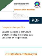 Estructura de Los Materiales. Presentación PowerPoint
