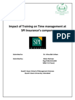 Impact of Training on Time Management at SPI Insurance
