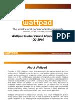 Wattpad Global eBook Metrics Report Q2 2010