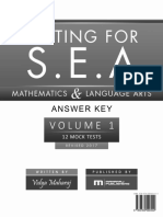 Testing for s.e.a. Mathematics Answer Key v2