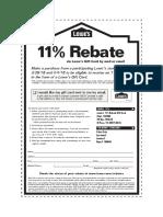 11 Percent Rebate