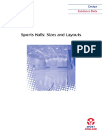 Sports Halls - Sizes Layouts DG