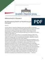 Preussische Allgemeine.de Millionenbeute in Rußland
