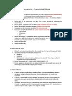 Observaciones y Características Sistema