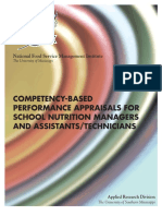 Competency-Based Performance Appraisals for School Nutrition Managers and Assistants or Technicians