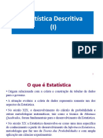 Aula 1 - Estatística Descritiva I A2018