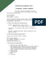 Frcpath Mock Examinations 2014 Oral Medical Candidates