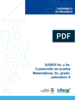 Prueba de Matematica - Grado 9 Calendario a, 2009