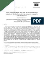 Vapor–Liquid Equilibrium Fluid State and Zero-pressure Solid