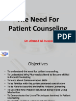 PR1 the Need for Patient Counseling