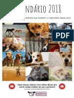 Calendário 2018 Tudo Sobre Cachorros