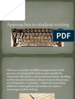 Approaches to Student Writing