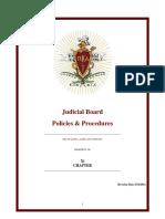 judicial board policies and procedures