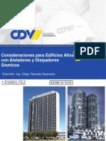Ing. Diego Taboada - Consideraciones Para Edificios Altos Con Aisladores y Amortiguadores Sísmico