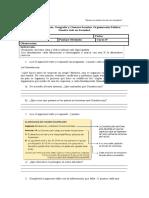 Evaluación IV Unidad 4to Basico