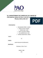 Perfumerias Unidas - COMPORTAMIENTO DE COMPRA
