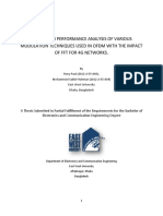 A THESIS ON PERFORMANCE ANALYSIS OF VARIOUS MODULATION TECHNIQUES USED IN OFDM WITH THE IMPACT