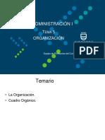 Tema 5 Organización