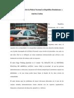 Análisis Situacional de La Policía Nacional en República Dominicana y América Latina
