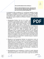 Acuerdo sobre el Procedimiento para Tratar los Aspectos Sustantivos del Diferendo Territorial y Otros Asuntos de Procedimiento (Feb 7, 2001) - Biblioteca Columbus, OEA