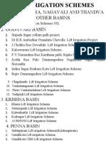 Lift Irrigation Schemes