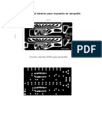Circuito Impreso Al Derecho Para Impresión en Serigrafía