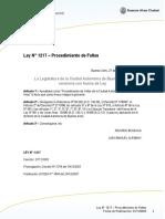 Ley Faltas 1217 CABA