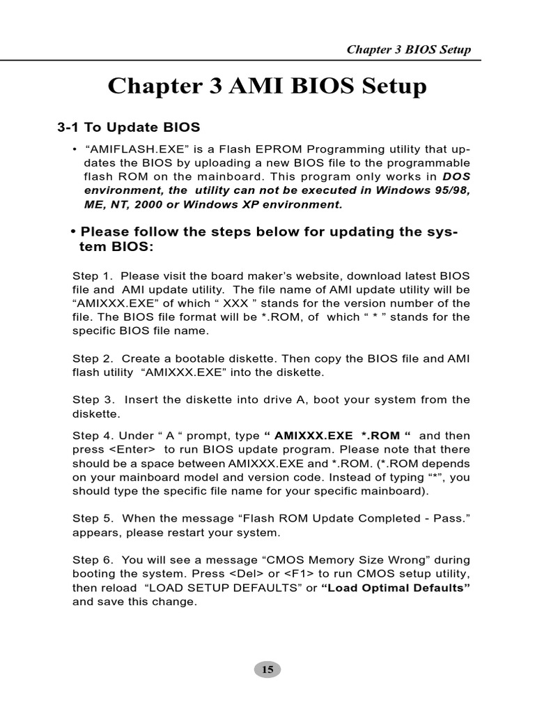AMIBIOS 3 31a pdf | Bios | Booting