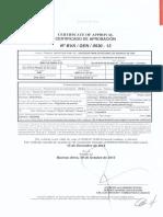 Modelo Certificado Dispensador Alto Caudal