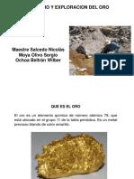 ¨Prospección del Oro