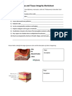 Anemias and Tissue Integrity Enrichment Worksheet