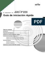 PIXMA IP1200 IP1600 IP2200 Quick Start Guide ES