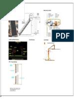 Detalle Luminaria y Totem Con Panel Fotovoltaico