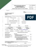 Solicitud de Registro y Aprobación de La Opcion de Titulación