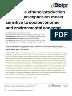 Modelo de expansão da produção de etanol no Brasil considerando aspectos socio-econômicos e ambientais
